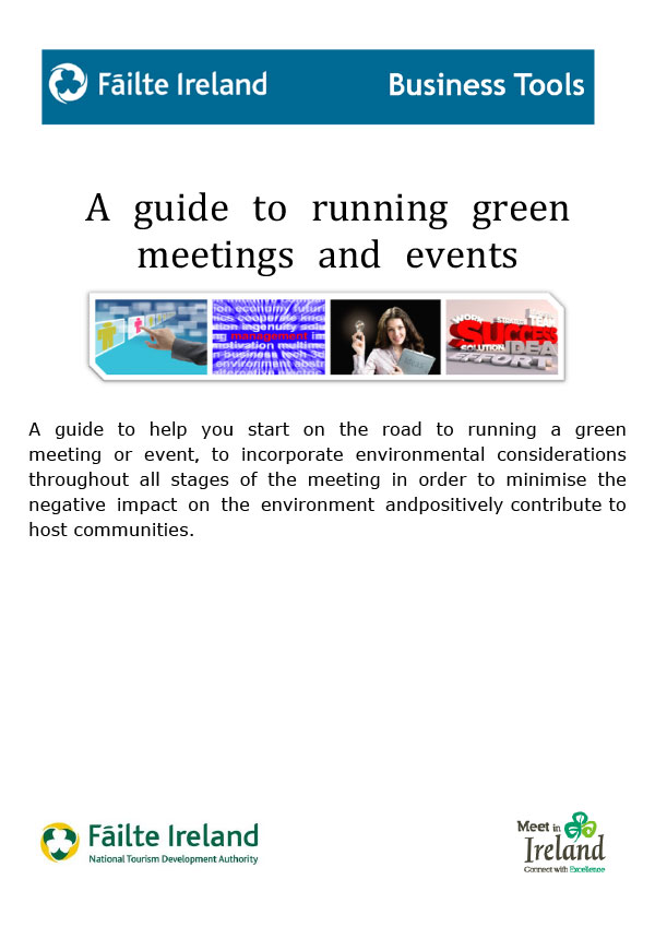 A guide to running green meetings and events